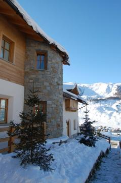 Chalet Monteneve with the snow