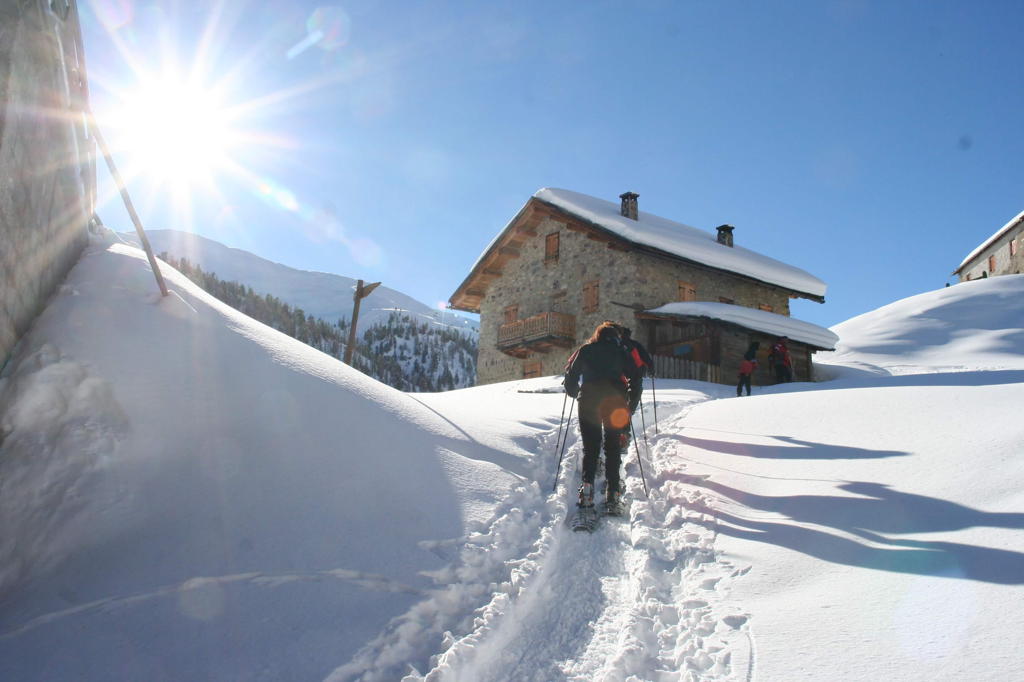 Snowshoe hike in Livigno